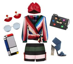 """""""Colorme free"""" by lily-lovejoy on Polyvore featuring мода, Ted Baker, Alice + Olivia, Loewe, MANGO, For Art's Sake и Gucci"""