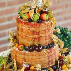 Naked Cake  Veja mais em 👉 #CasandoNoCampo Veja mais em 👉 #CasandoNaFazenda  #WeddingCake #WeddingCake #Cake #BoloDeCasamento #Bolo #WeddingDay #Wedding #Casamento #Bride #CakeDesign #SenhoraInspiração #SenhoraInspiraçãoBlog www.SenhoraInspiração.Blogspot.com.br