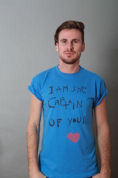 I am the captain of your heart taubenblau Gr.L von Salomè Hockwin auf DaWanda.com