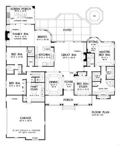 canted garage 1 storey 2600 sf 3 bed house plans scottsdale