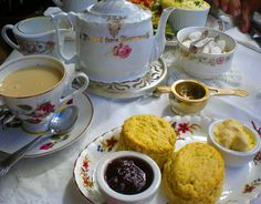 Tea time at the Vintage Tea Room in Bath, England, a thoroughly charming place. © Sharyn Sowell