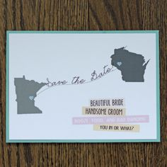 fun Save the Date for a wedding!