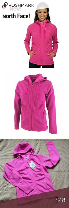 New!Final price!! North Face Women's jacket 100% AUTHENTIC!   The North Face Women's Mezzaluna Full Zip Fleece Hoodie jacket  Color:Fuchsia Pink Size:S   Flattering ruching puts a new twist on North Face's popular fleece hoodie that provides lightweight warmth without bulk.  Dries quickly to minimize heat loss  Tucking at shoulders  Pill-resistant face and back  100% recycled polyester classic fleece  North Face Patagoina Nike Adidas Under Armour North Face Jackets & Coats