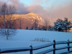 Stowe VT - A great shot looking back toward Mt. Mansfield.  #stowe #vt #ski