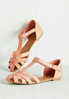 2a135a9998f1 The cage toe modeled strapped orange flats Coral Flats