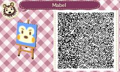 As the owner of the clothing shop in #acnl, Mabel makes QR codes extra fashionable. #animalcrossing #newleaf #Nintendo #3DS
