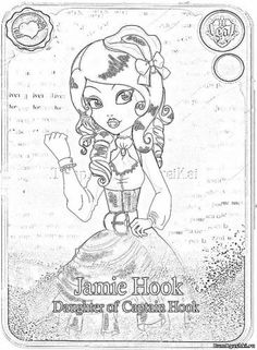 Jamie Hook Ever After High Dona Moore Coloring Pages