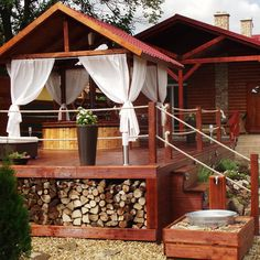 Outdoor Furniture, Outdoor Decor, Hungary, Future House, Gazebo, Outdoor Structures, Cabin, House Styles, Travel