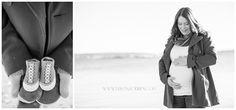 Winter Beach Maternity Portraits |  Kristina O'Brien Photography