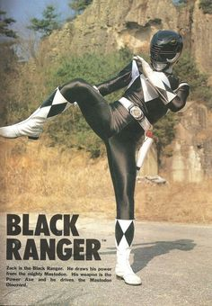 Zack/Black Ranger- Mighty Morphin' Power Rangers