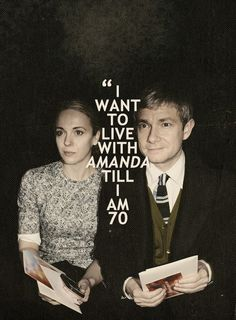Martin Freeman & Amanda Abbington - I am sorry but I thought this was sweet at first and then funny.  Is he going to kick her out when he gets to 70 ? Lol