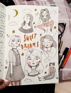 Fabulous Drawing On Creativity Ideas. Captivating Drawing On Creativity Ideas. Kunstjournal Inspiration, Sketchbook Inspiration, Bullet Journal Inspiration, Sketchbook Ideas, Art Inspo, Arte Indie, Art Du Croquis, Art Mignon, Arte Sketchbook