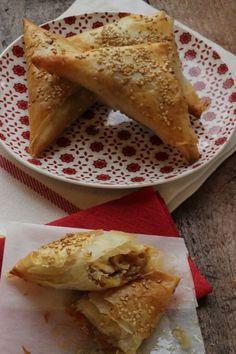 Triangoli di pasta fillo con verdure