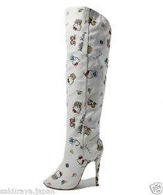 Hello Kitty x Nina Mew Knee High Boots Pumps High Heel Shoes Japan L E Gift F S | eBay