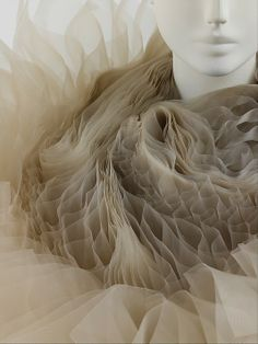 "Junya Watanabe F/W ""Techno Couture"" - pretty texture Art Texture, Textile Texture, Light Texture, Textiles, Textile Design, Textile Art, Techno, Textile Manipulation, Collage Kunst"