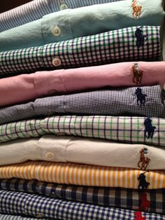 Ralph Lauren button down shirts. childofsummer.tumblr.com