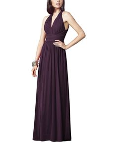Stylist NotesThe ruching on the sides of the bust flatter the midsection like whoa! -SonaliDescriptionDessy Collection Style 2908Full length bridesmaid dressModified v-neck halter necklineNatural waistLux chiffon
