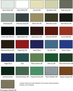 Best Standing Seam Metal Roof Colors Please Note That Colors 400 x 300