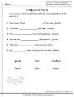 Past Simple Vs Present Perfect Worksheet Plural Nouns Worksheet  Grade  Language  Pinterest  Plural  Grammar Worksheets Free Pdf with Interpreting Graphs And Charts Worksheets Word Irregular Plural Nouns Worksheet Yes No Questions Worksheet Excel