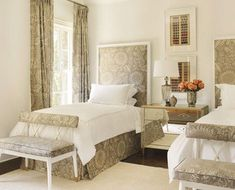 guest bedroom with twin bed designs | ... ruffle and benches. Alsways wanted guest room with matching twin beds