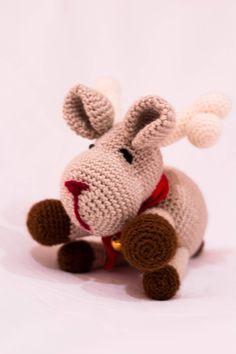 Reno Rudolf, Decoración Navidad, Amigurumi, Juguetes Christmas, Hecho a Mano de PmpPetriMontes en Etsy