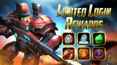 Login Daily During the special event to claim Tons of Bonus Rewards! #mobilemoba