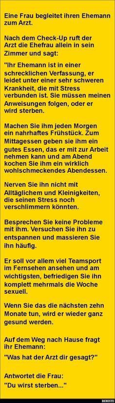 Eine Frau begleitet ihren Ehemann zum Arzt | DEBESTE.de, Lustige Bilder, Sprüche, Witze und Videos