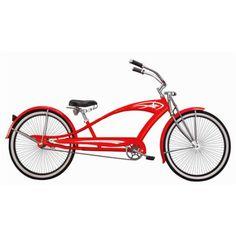Micargi 26 inch Puma GTS Men's Beach Cruiser Bike, Red