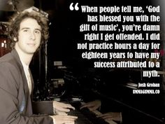 No....did he really say this???? OMG, Josh, I think I just became a Grobanite again! #joshgroban #atheist