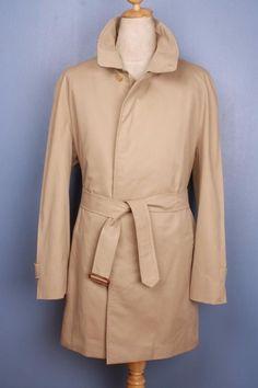 Mens BURBERRY Bespoke Short TRENCH Coat Mac UK/USA 46/48 XL/XXL