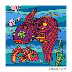 #fish #colorfy #colorfyapp #adultcoloring #mobileapp #googleplay #relaxing #fun #instagram = @Dreamtraveler247