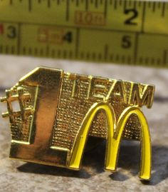 McDonalds #1 Team Wide Gold Color Backing Employee Collectible Pin Button #McDonalds