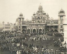 Mysore in 1910-The Marriage Of HH Yuvaraja Sir Sri Kantirava Narasinharaja Wadiyar To HH Yuvrani Kempu Cheluvammanniyavaru Urs In Mysore In 1910