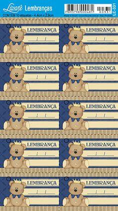 Resultado de imagem para tags para lembrancinhas de cha de bebe com o nome davi miguel para imprimir gratis Baby Kids, Baby Boy, Baby Shower Gender Reveal, Baby Shower Centerpieces, Minions, Diy And Crafts, Teddy Bear, Animals, Lucca