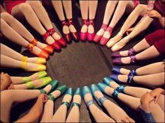 Ballet Rainbow <3 I love the  purple, dark blue, red and light red.