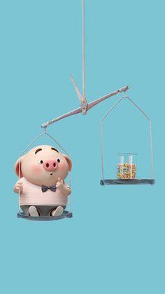 This Little Piggy, Little Pigs, Pig Wallpaper, Wallpaper Backgrounds, Wonder Art, Pig Illustration, Cute Piggies, Piglets, Animals Of The World