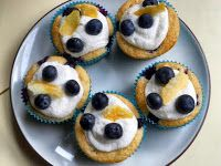 Hezzi-D's Books and Cooks: Lemon Blueberry Cupcakes with Lemon Buttercream Frosting: What's Baking?