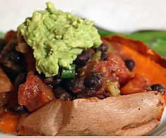 Andrea's Easy Vegan Cooking: The day I became a vegetarian / Black bean and tomato stuffed sweet potato