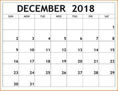 13 Best December Calendar 2018 Printable Template Images 2018