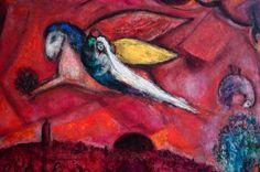 Chagall, il Cantico dei cantici IV (1958) Museo Chagall, Nizza.Quadro della serie dedicata al cantico dei cantici.