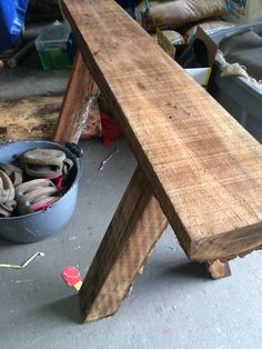 Rustic sawhorse for new shoot