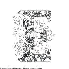 Zentangle Monogram Alphabet Letter E Malvorlage – mandala Letter B Coloring Pages, Coloring Letters, Quote Coloring Pages, Unicorn Coloring Pages, Free Adult Coloring Pages, Mandala Coloring Pages, Alphabet Design, Monogram Alphabet, Design Letters