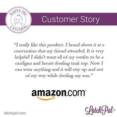 """""""I really like this product. I heard about it at a convention that my friend attended. It is very helpful! I didn't want all of my outfits to be a cardigan and breast-feeding tank top. Now I can wear anything and it will stay up and out of my way while feeding my son."""" – Amazon Customer #latchpal #breastfeed #breastfeeding #mother #baby #motherhood #nursing #babyproducts #accessory #breastmilk #milk #breastfeedingphoto #health #healthy #parenting #instagood #picoftheday #quote #amazon"""