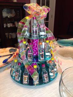 Mini vodka bottle cake for boyfriend. Liquor Bottle Cake, Mini Alcohol Bottles, Liquor Cake, Vodka Bottle, Liquor Drinks, Mini Alcohol Bouquet, Liquor Bouquet, Alcohol Gift Baskets, Liquor Gift Baskets