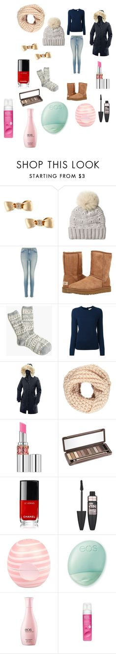 """""""Untitled #85"""" by ecoworld ❤ liked on Polyvore featuring Mimi So, Woolrich, J Brand, UGG Australia, J.Crew, Tory Burch, Canada Goose, Forever 21, Yves Saint Laurent and Urban Decay"""
