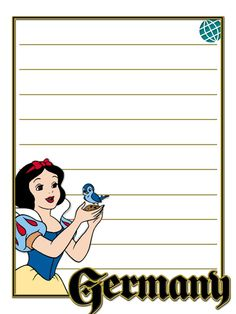 """EPCOT - Germany - Snow White - Project Life Journal Card - Scrapbooking. ~~~~~~~~~ Size: 3x4"""" @ 300 dpi. This card is **Personal use only - NOT for sale/resale** Logos/clipart belong to Disney. ***Click through to photobucket for more versions of this card with and without characters :) ***"""