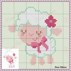 Embroidery designs for kids flower 63 ideas Kawaii Cross Stitch, Cross Stitch Baby, Cross Stitch Animals, Cross Stitch Charts, Cross Stitch Patterns, Embroidery Hearts, Embroidery Hoop Art, Cross Stitch Embroidery, Embroidery Patterns