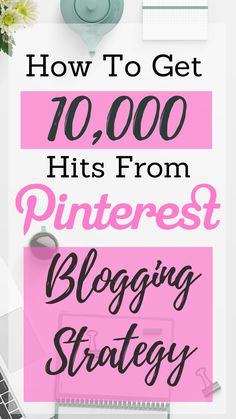 A Case Study with a blogger who grew her blog from 0 to 10,000 unique hits in one month with 100% of traffic coming from Pinterest. She dives into her Pinterest strategy including custom fonts, keyword research, writing Pinterest-friendly blog content and manual pinning instead of Tailwind. This is one Pinterest strategy video you need to watch!