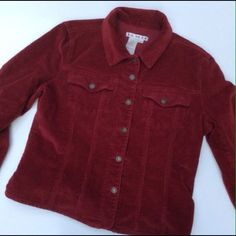 A.M.I Cranberry/Wine Colored Corduroy Jacket.