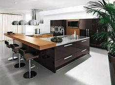 cocinas con islas modernas | Decover: :) Decover: Te gusta el color chocolate? Cocinas Modernas